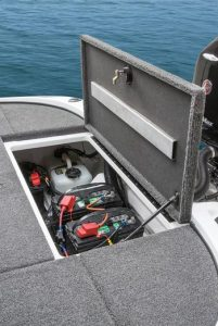 Interstate Trolling Motor Battery In a Boat
