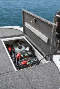 Interstate Trolling Motor Battery In a Boat