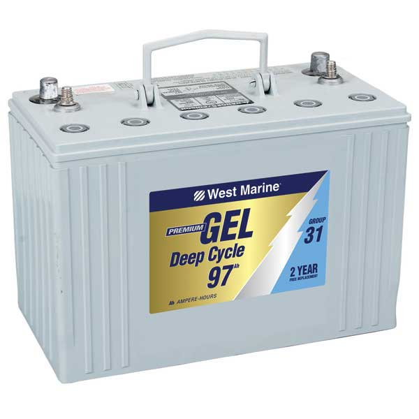 West Marine Gel Cell Marine Battery
